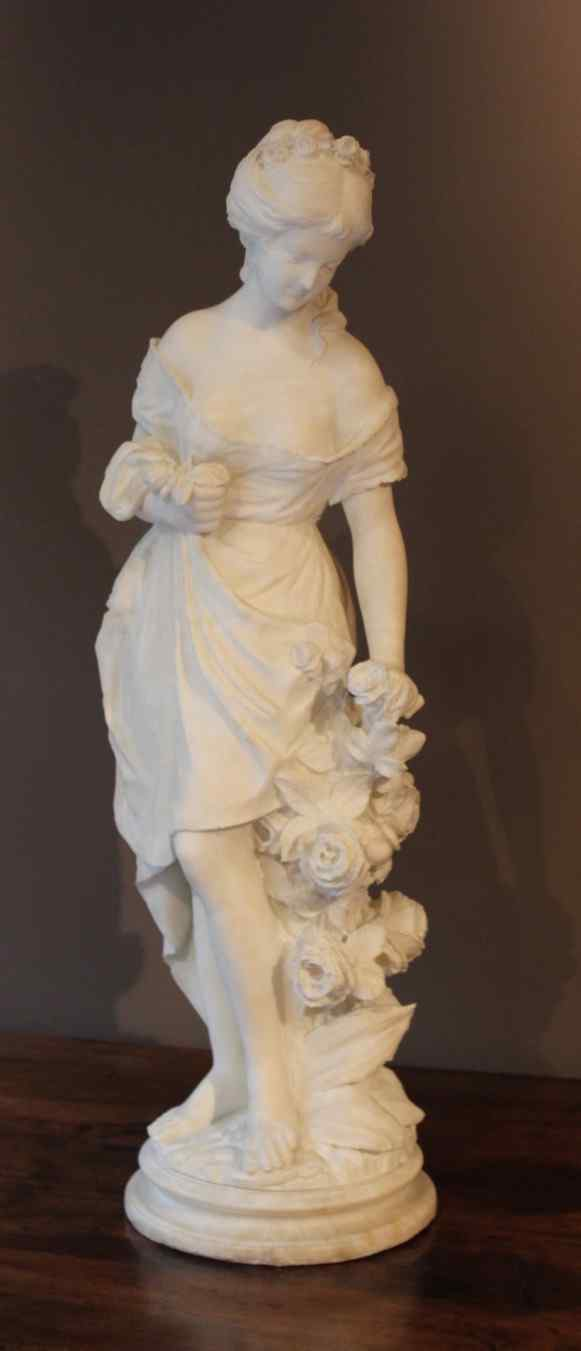 Young woman in alabaster XIX