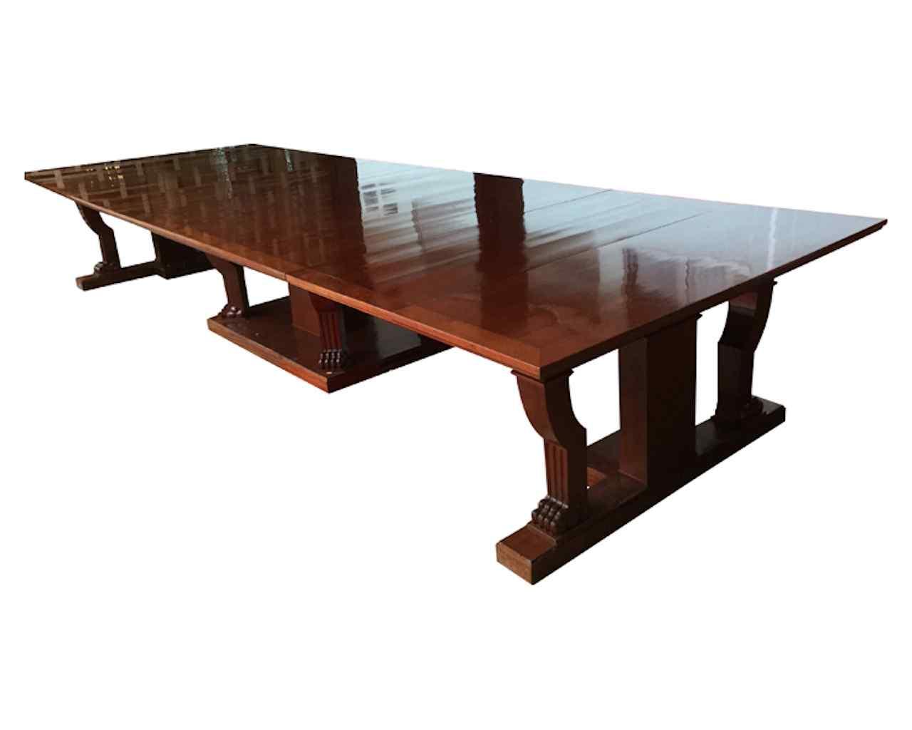 tavolo da sala antico in stile impero