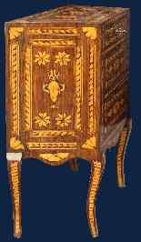 XVIII secolo, Coppia di comodini, Intarsiati-3