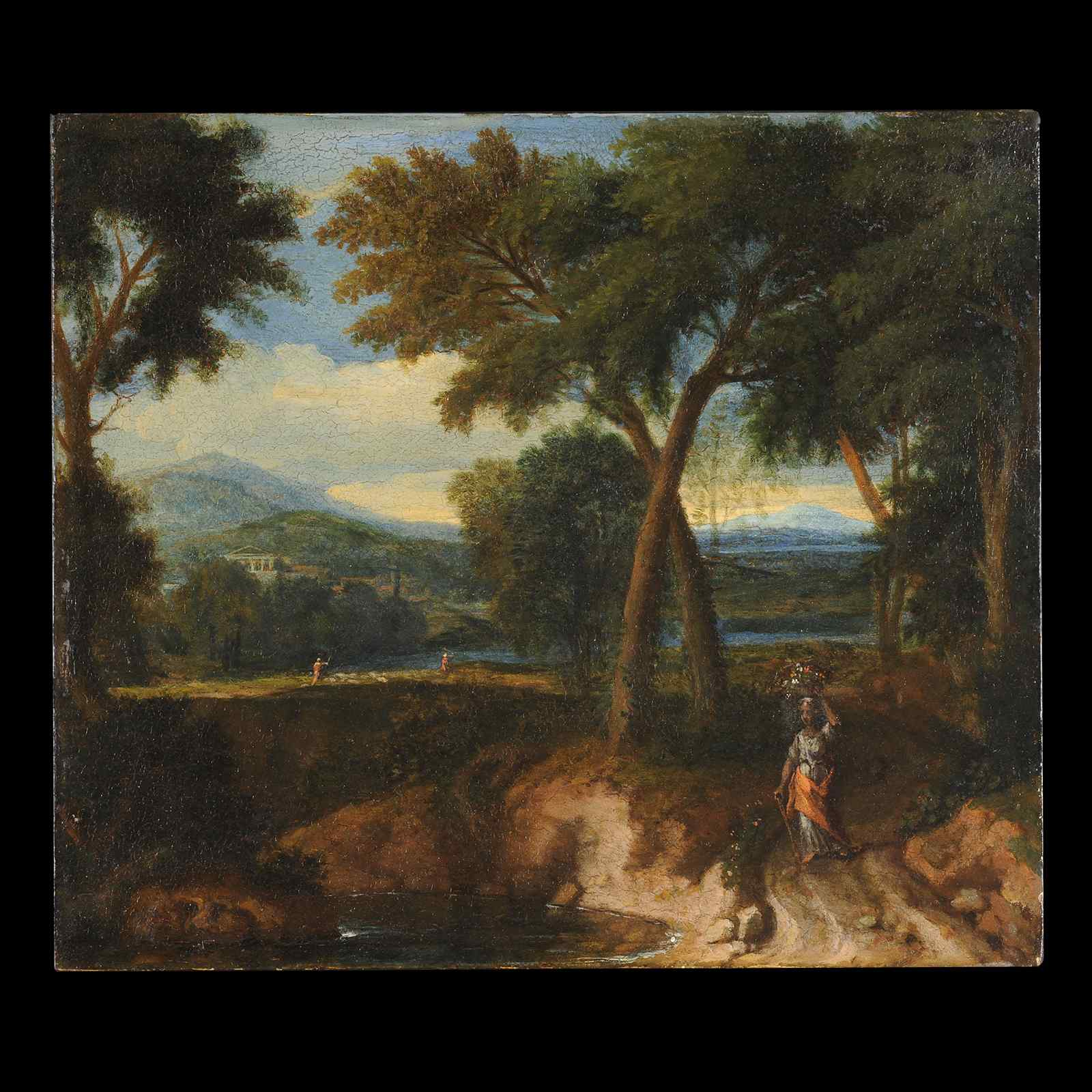 Landscape of Italian countryside XVIIe - Entourage of Gaspar