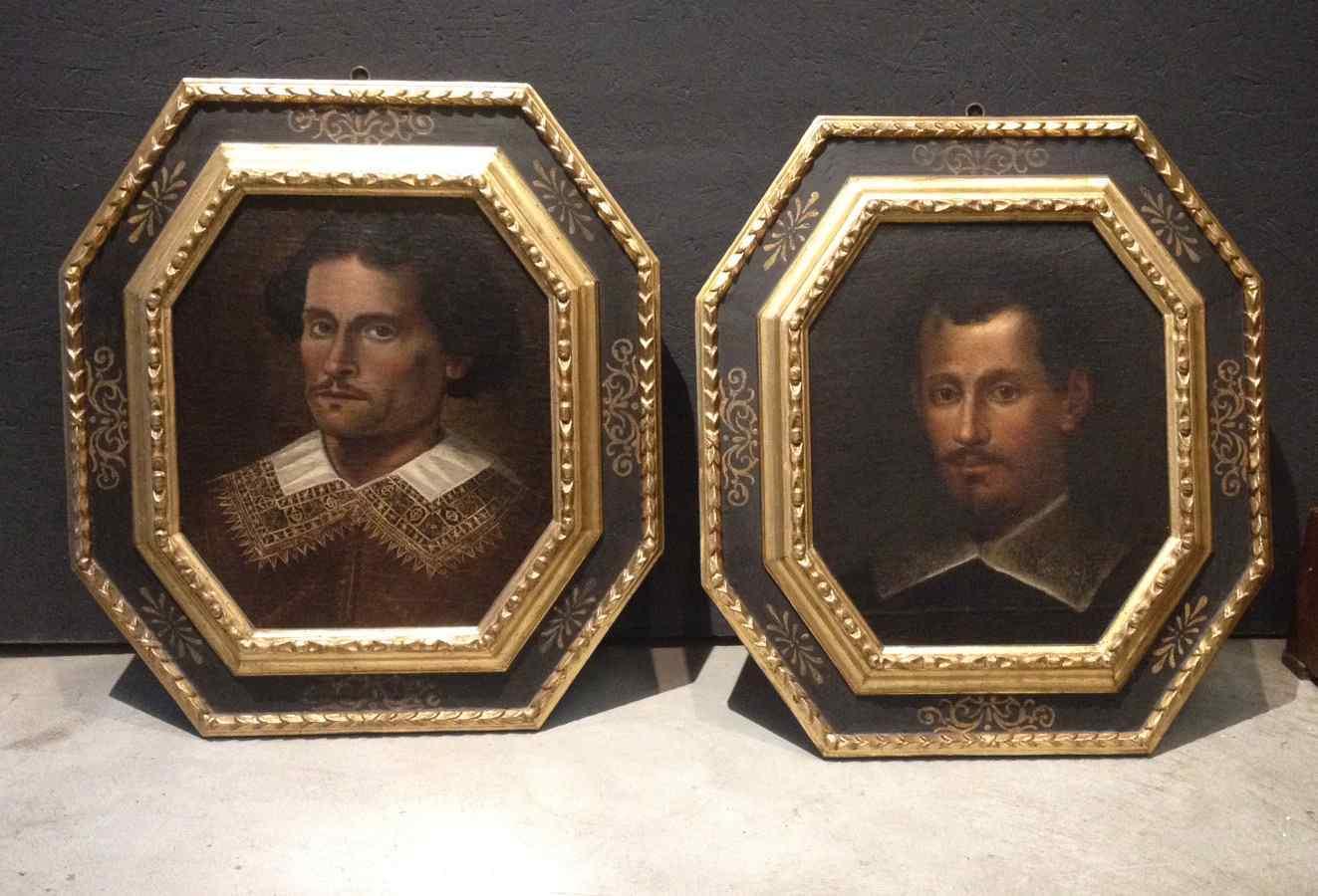 Pair of portraits XVIIcentury