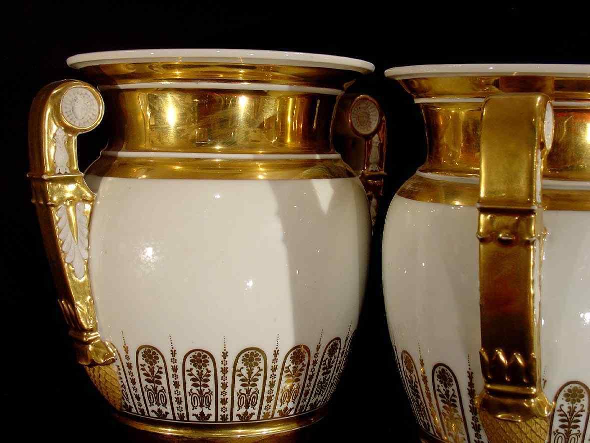 Coppia di vasi impero francesi