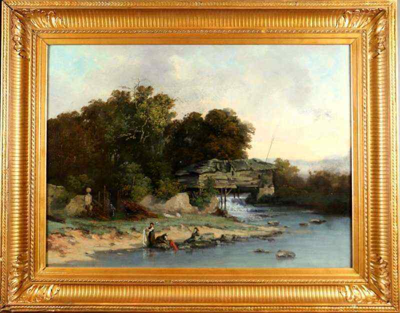 Fluvial landscape, circle of Jean-Baptiste Camille Corot, 19