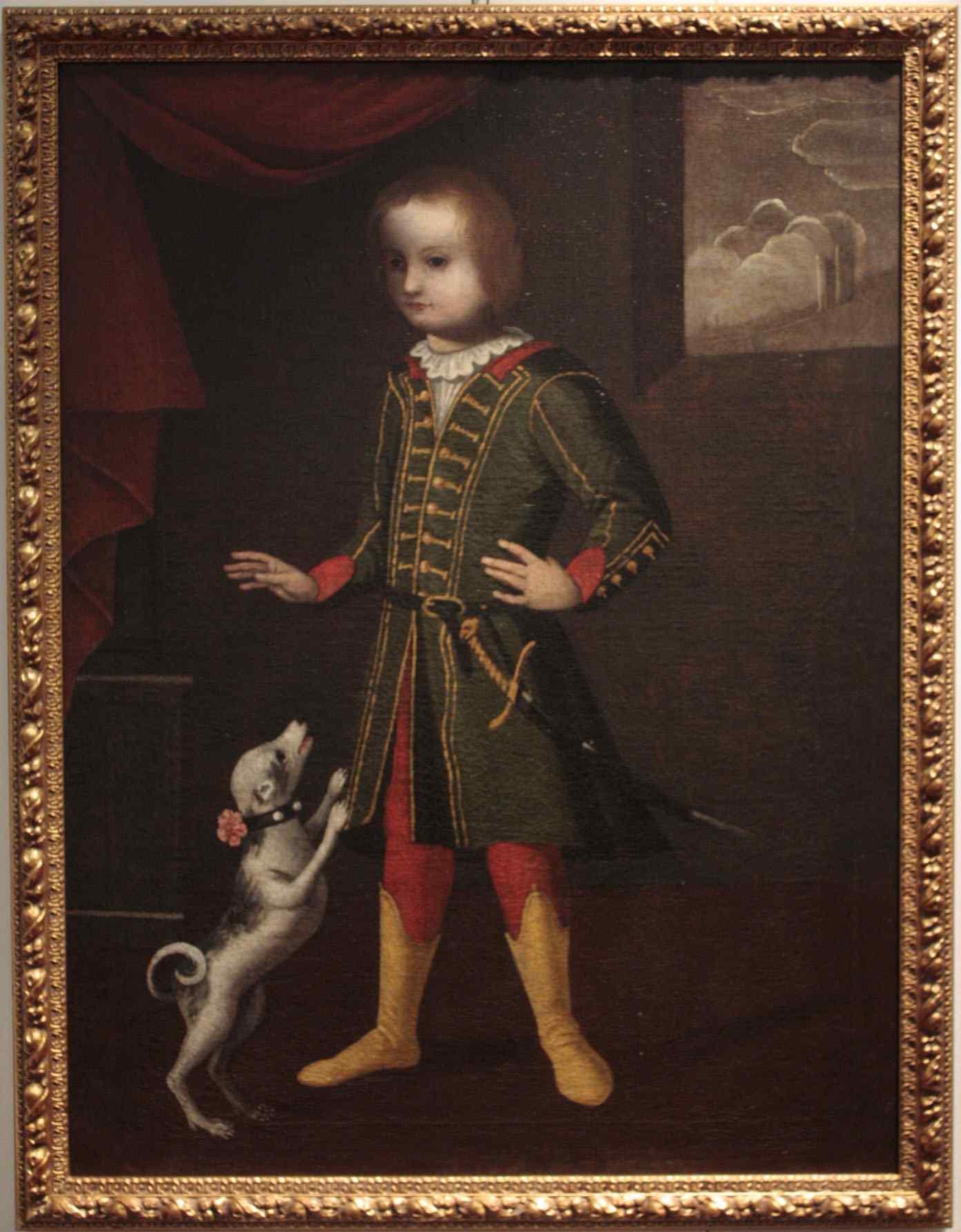 Portrait of child with dog seventeenth century