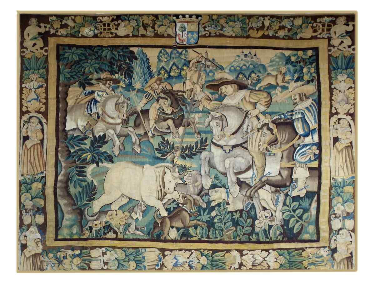 Tapestry Audenarde end of the 16th century - Tauren hunting
