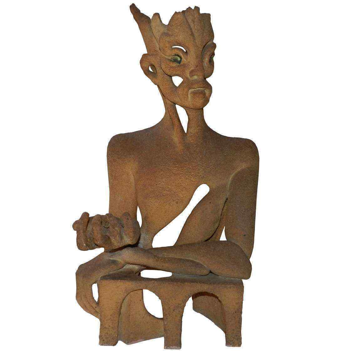 Scultura in terra cotta, David M 1980