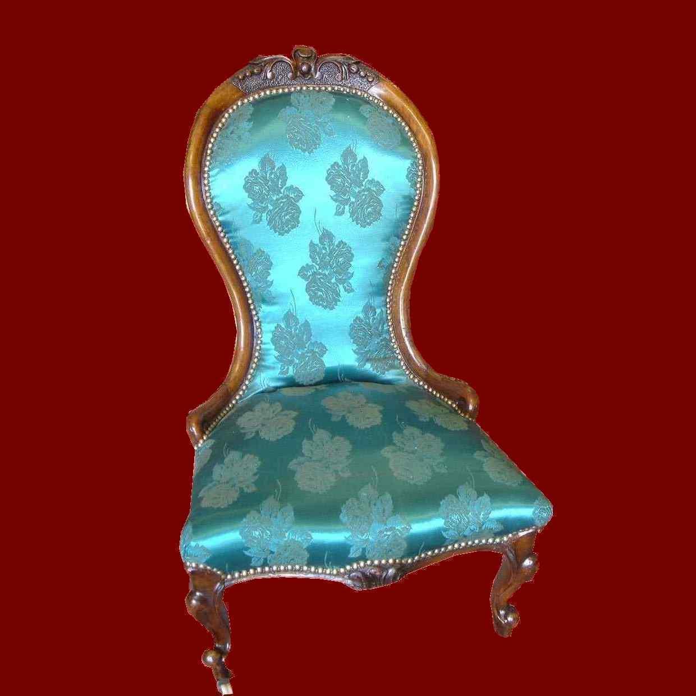 fauteuil de dame bas acajou victorien lady ou de nourrice anticswiss. Black Bedroom Furniture Sets. Home Design Ideas