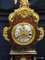 Impressive clock longcase of height 235 cm in Boulle-12