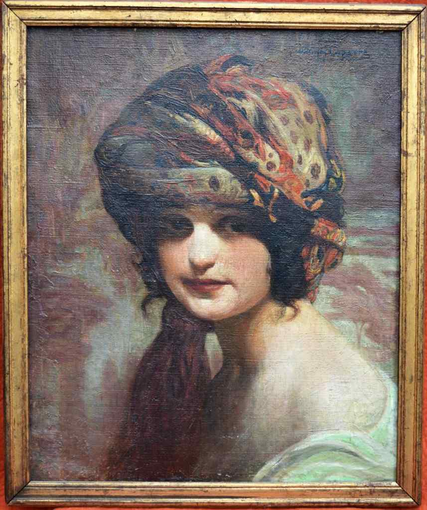 William Laparra, Portrait De Femme Au Turban.
