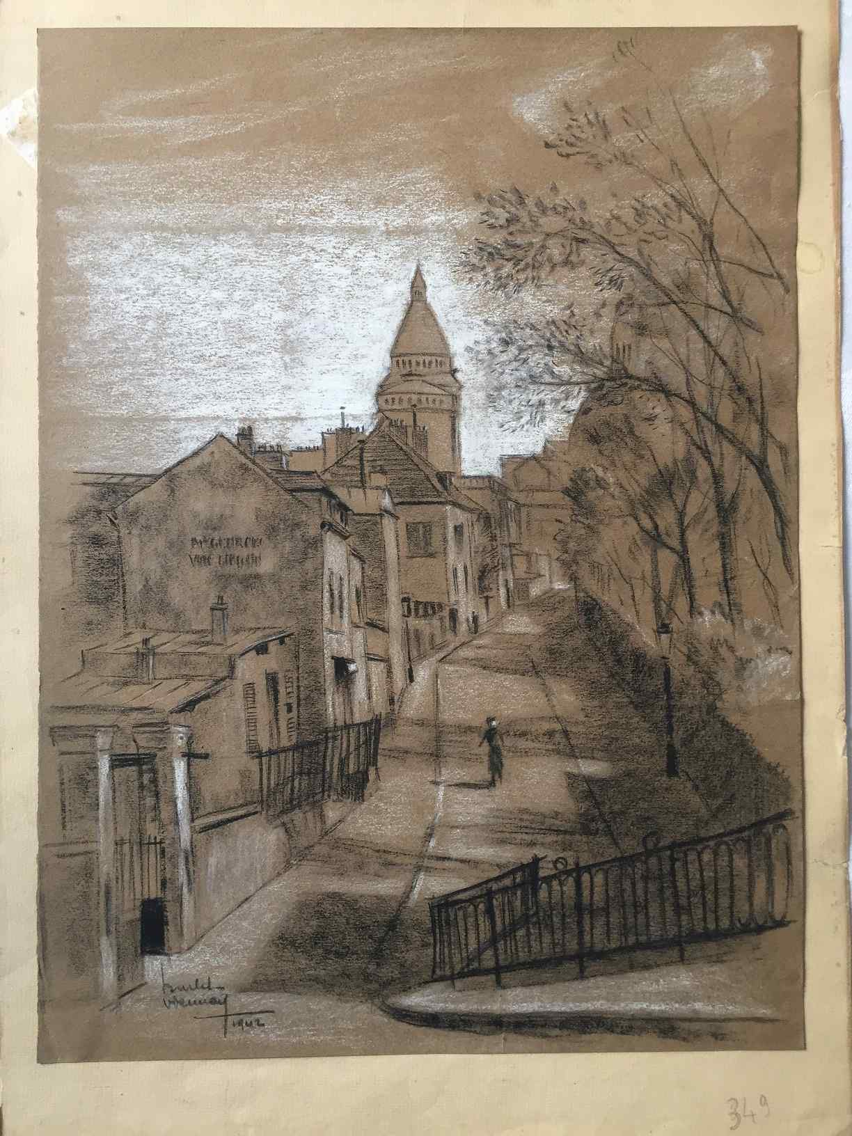 Drawing with charcoal from Montmartre