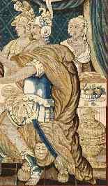 Tapisserie Aubusson époque XVIIe - Le Banquet d'Alcinous-2