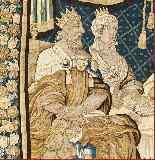 Tapisserie Aubusson époque XVIIe - Le Banquet d'Alcinous-6