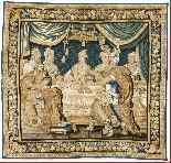 Tapisserie Aubusson époque XVIIe - Le Banquet d'Alcinous-0