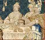 Tapisserie Aubusson époque XVIIe - Le Banquet d'Alcinous-11