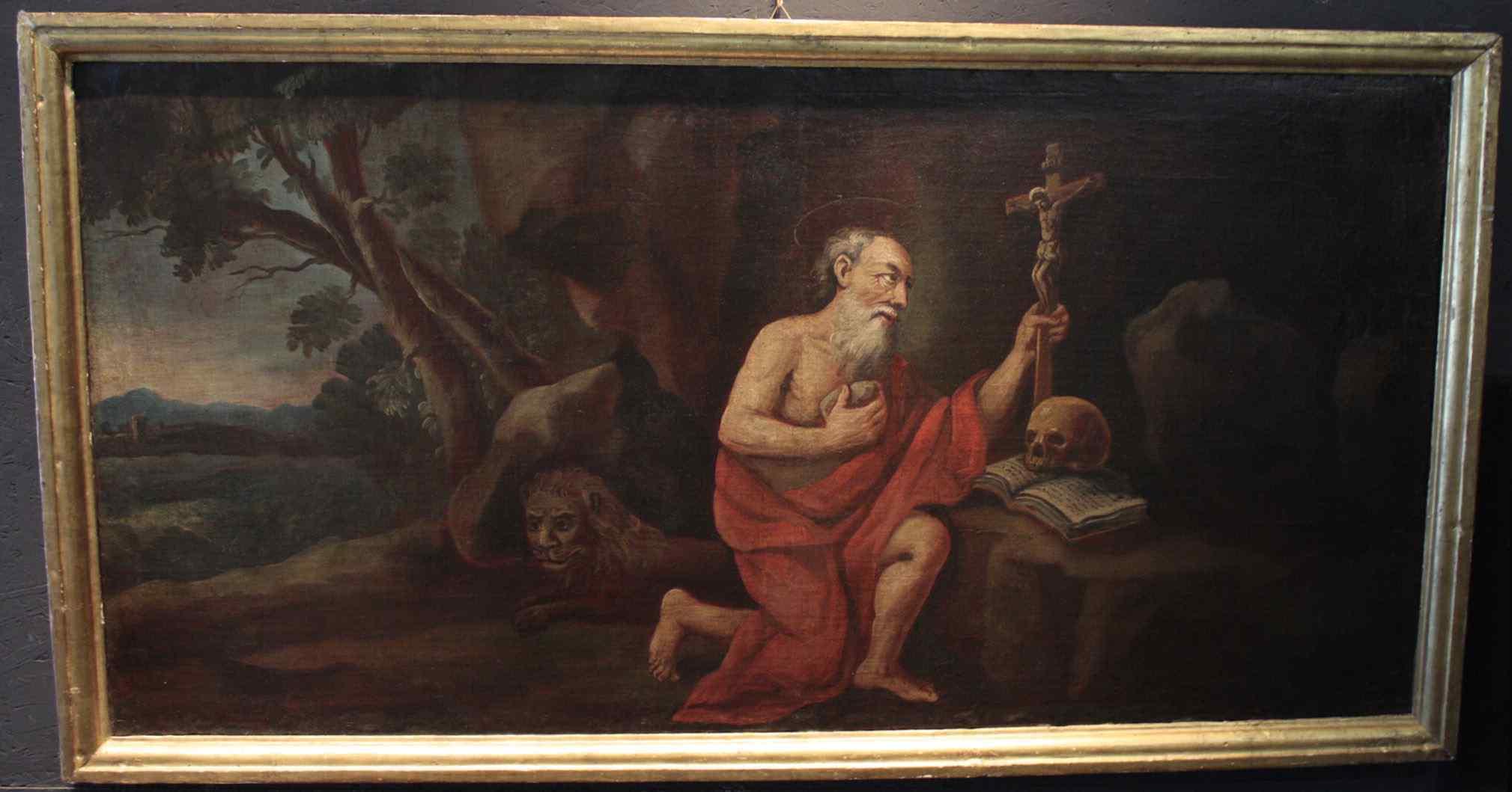 Peinture « Saint-Jérôme repenti » XVIIsecolo