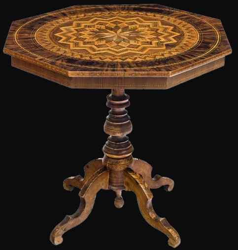 Role, 19th Century, Inlaid Table