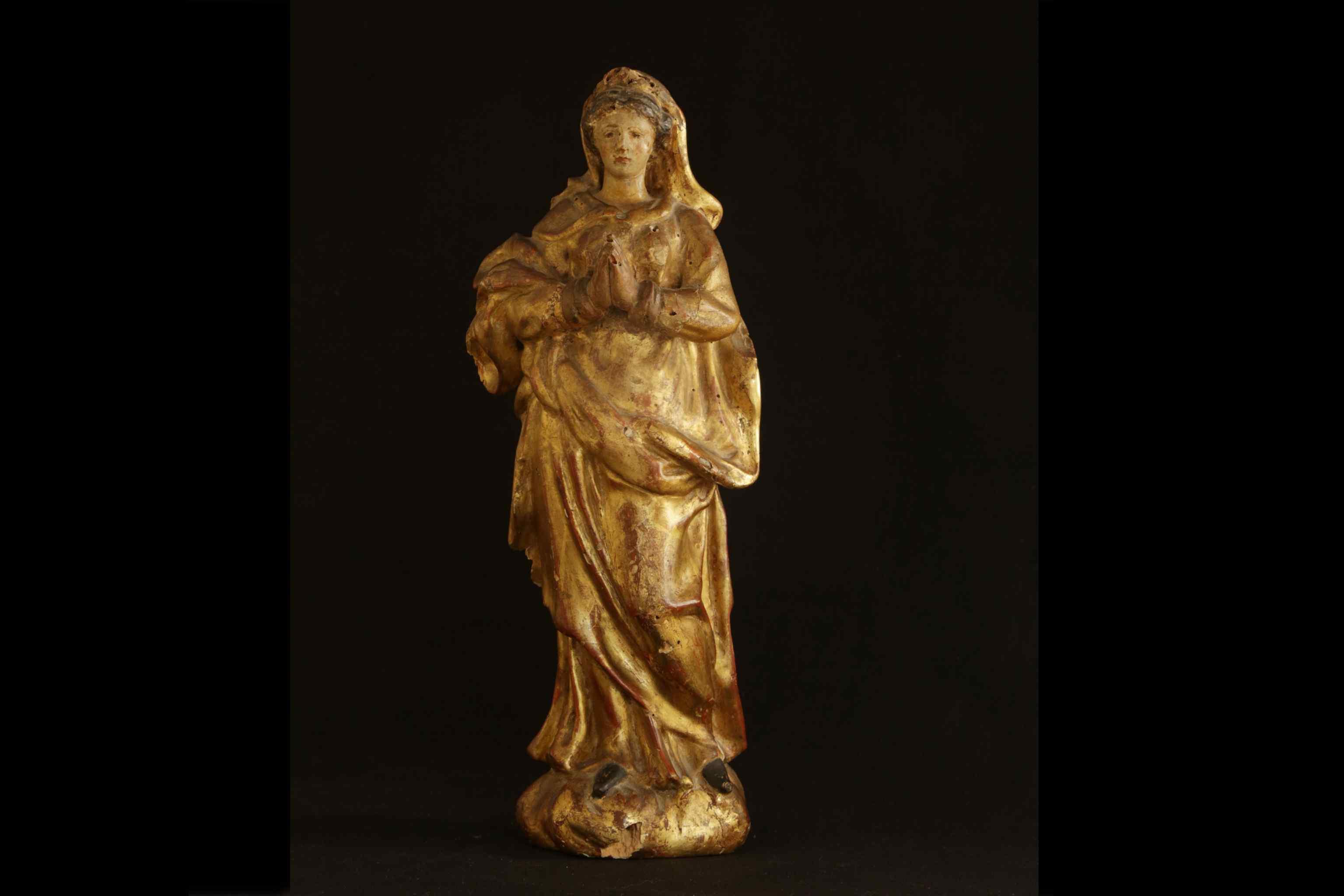 Madonna gilding wood, 18th century