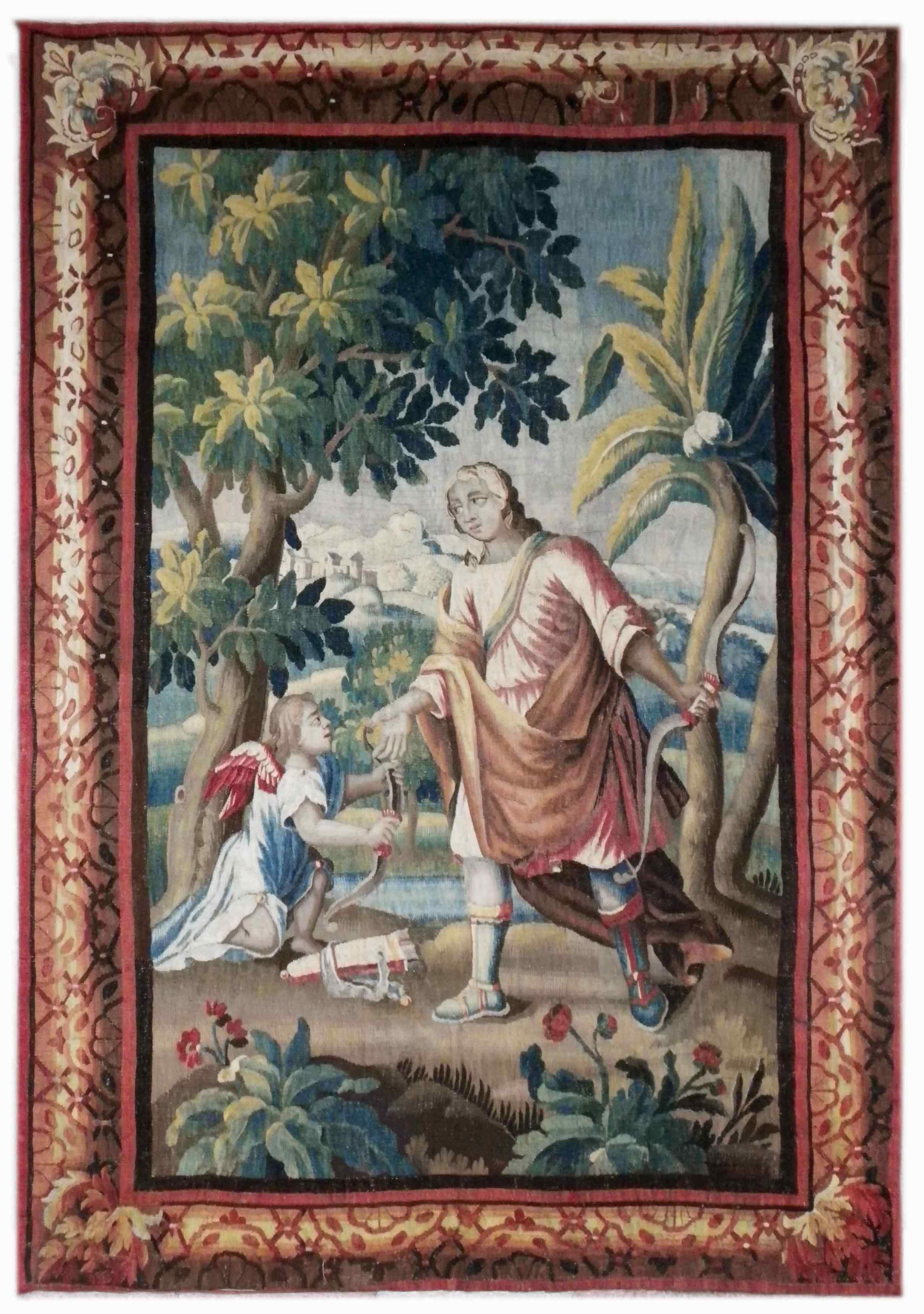 Tapestry Aubusson  Epoque XVII