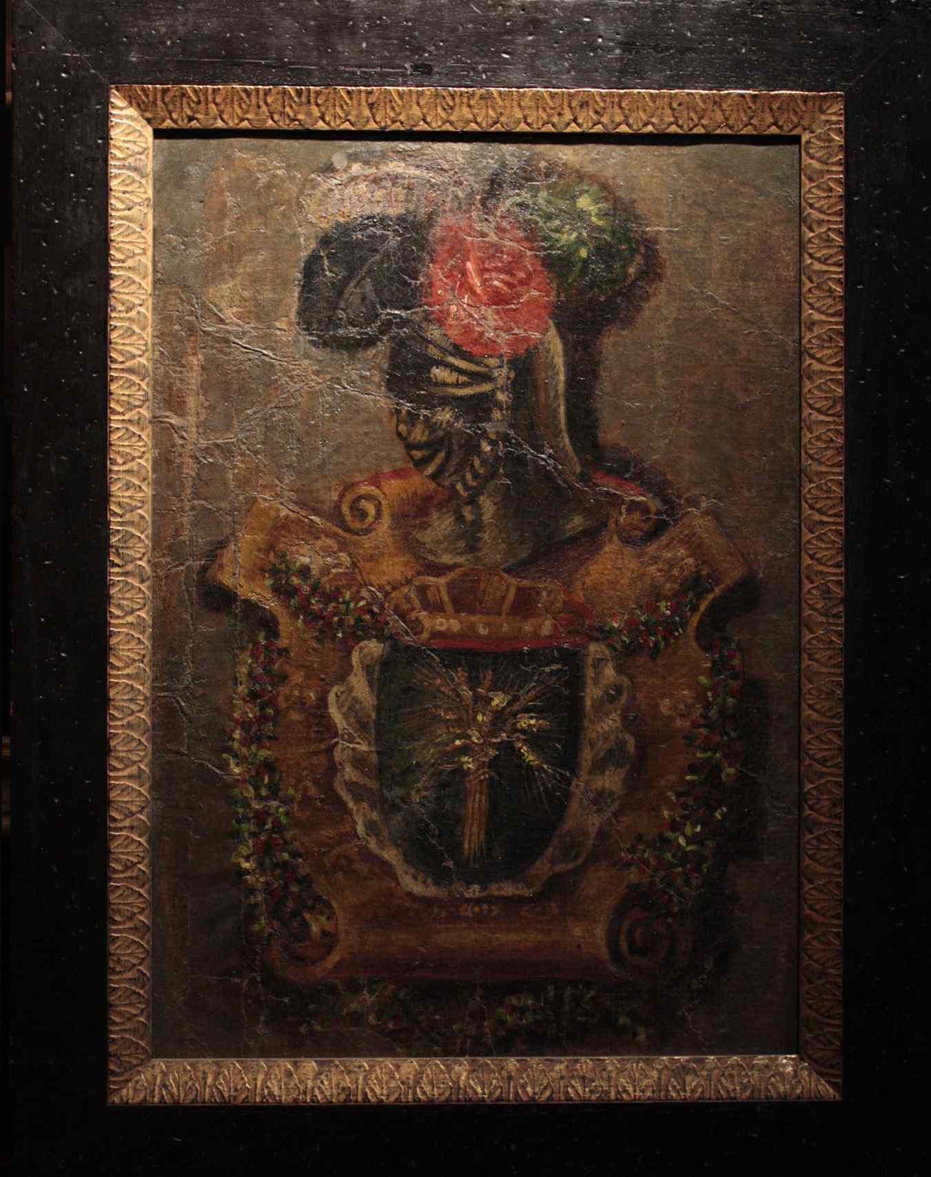 Peinture de « manteau aristocratique des armes » sec.XVIII
