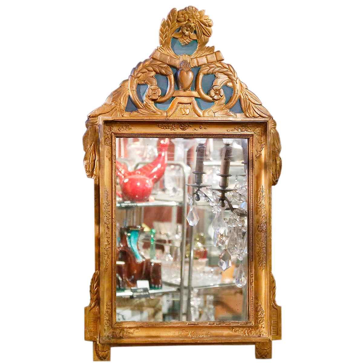 Miroir en bois dor sculpt xix me anticswiss - Rosace en bois sculpte ...
