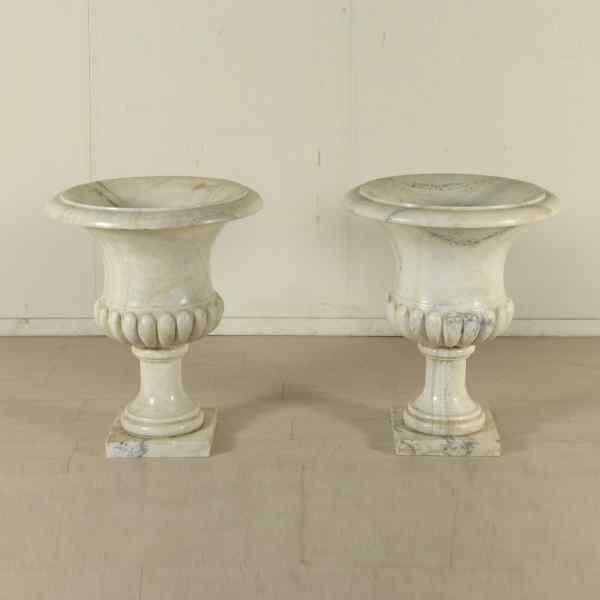 Coppia di vasi in marmo anticswiss for Vasi marmo