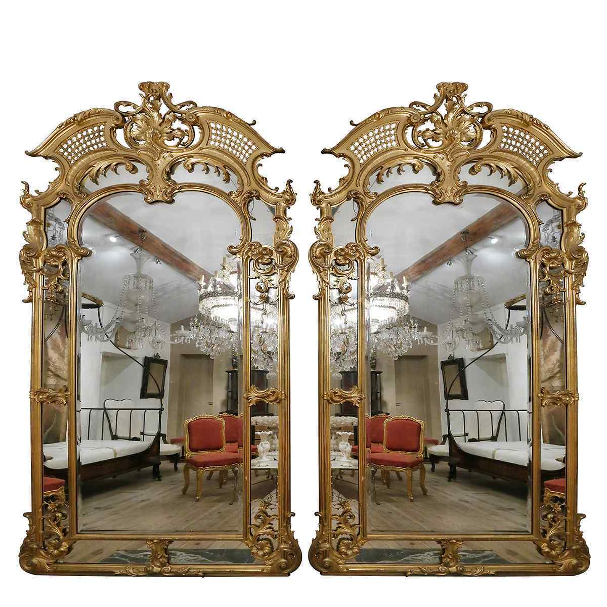 A Pair of Château Mirrors in the Regency Style