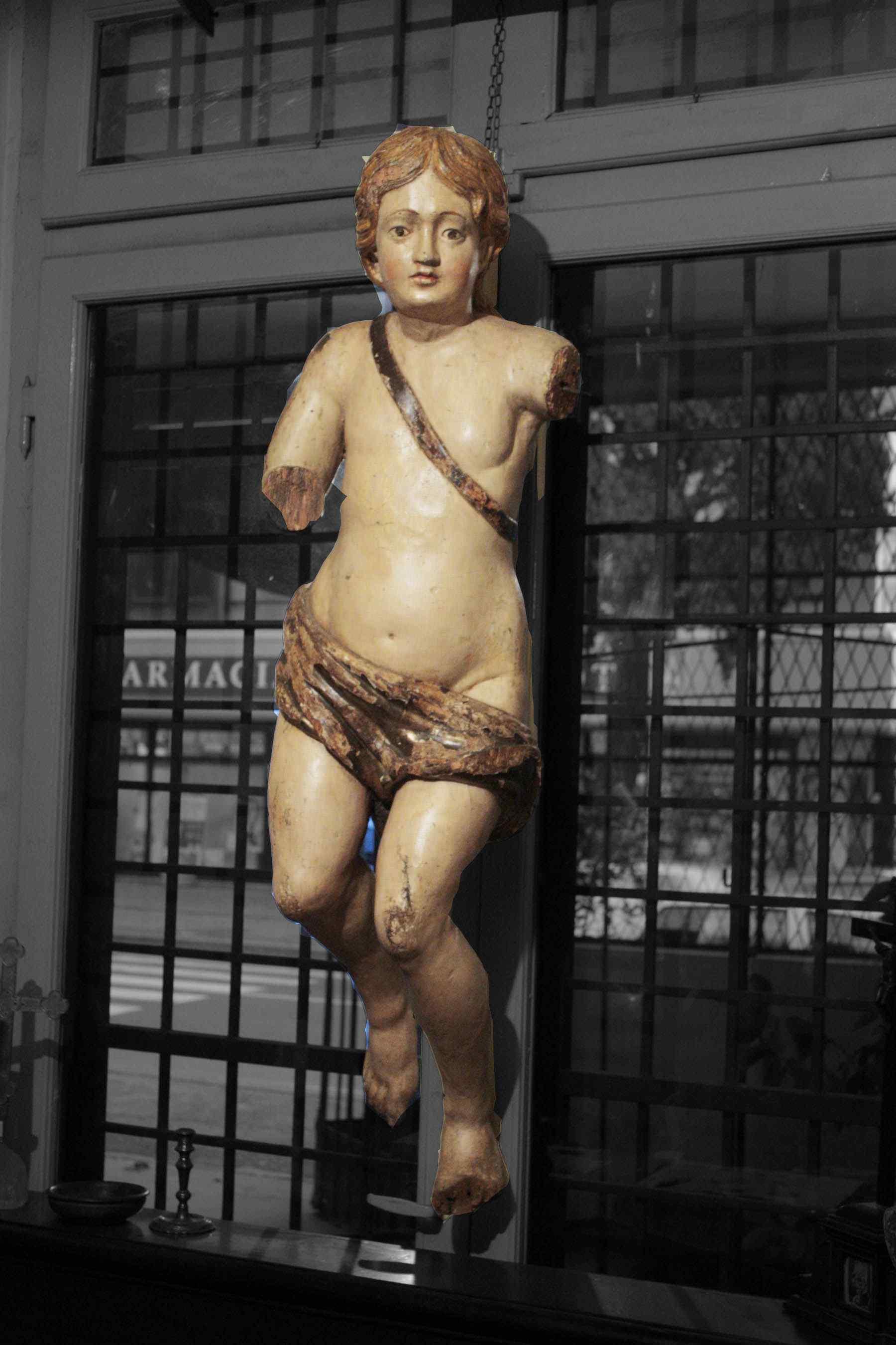 Большие деревянные скульптуры «Херувим» сек. XVIII