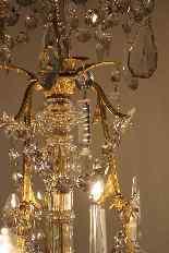 Люстра бронзовая клетка и кристалл 12 огней, Наполеон-0