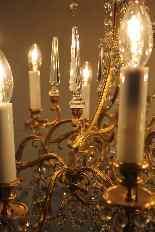 Люстра бронзовая клетка и кристалл 12 огней, Наполеон-2