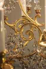 Люстра бронзовая клетка и кристалл 12 огней, Наполеон-9