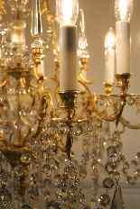 Люстра бронзовая клетка и кристалл 12 огней, Наполеон-10