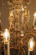 Люстра бронзовая клетка и кристалл 12 огней, Наполеон-7