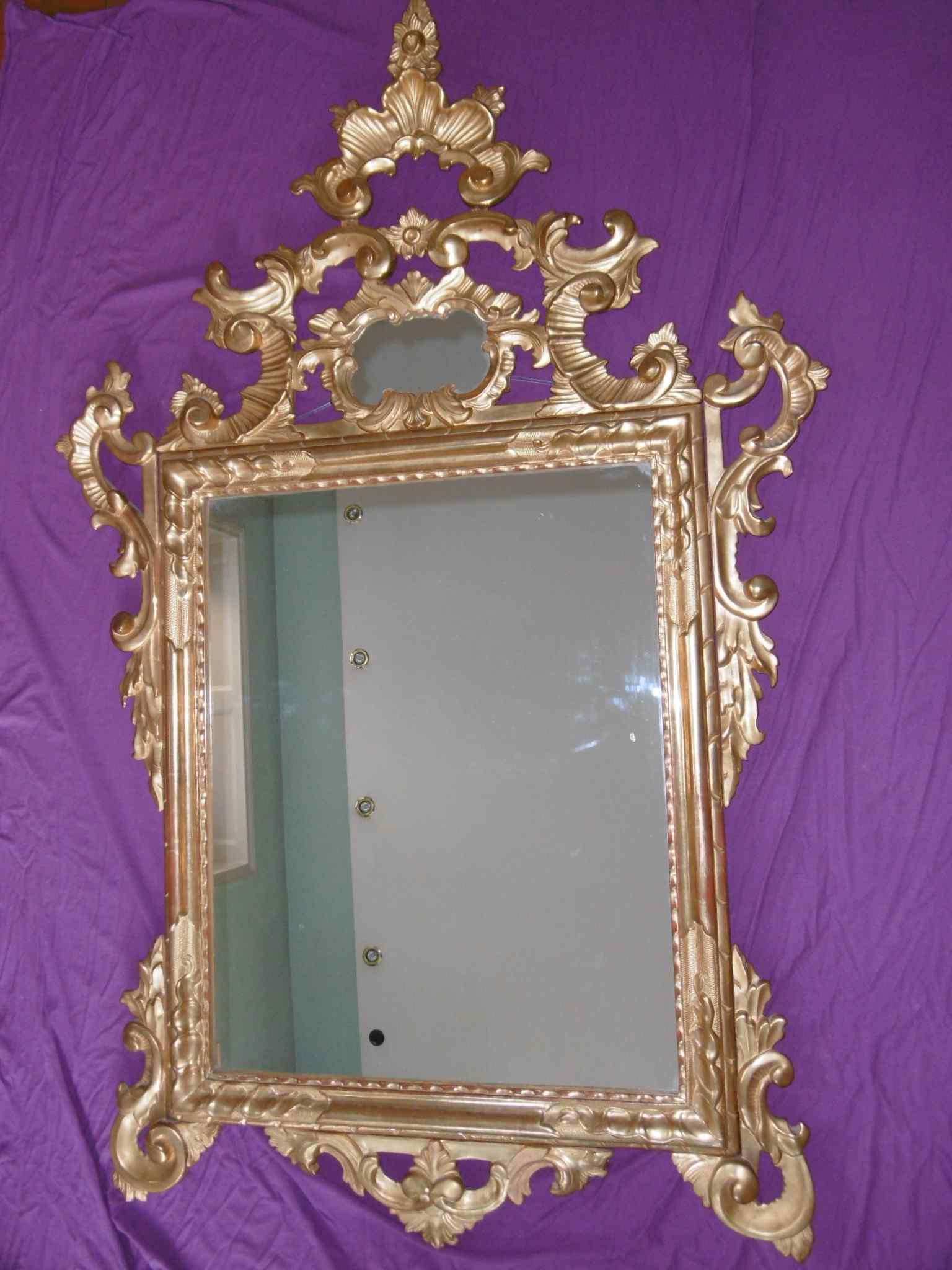 Louis XV Mirror in gilded wood