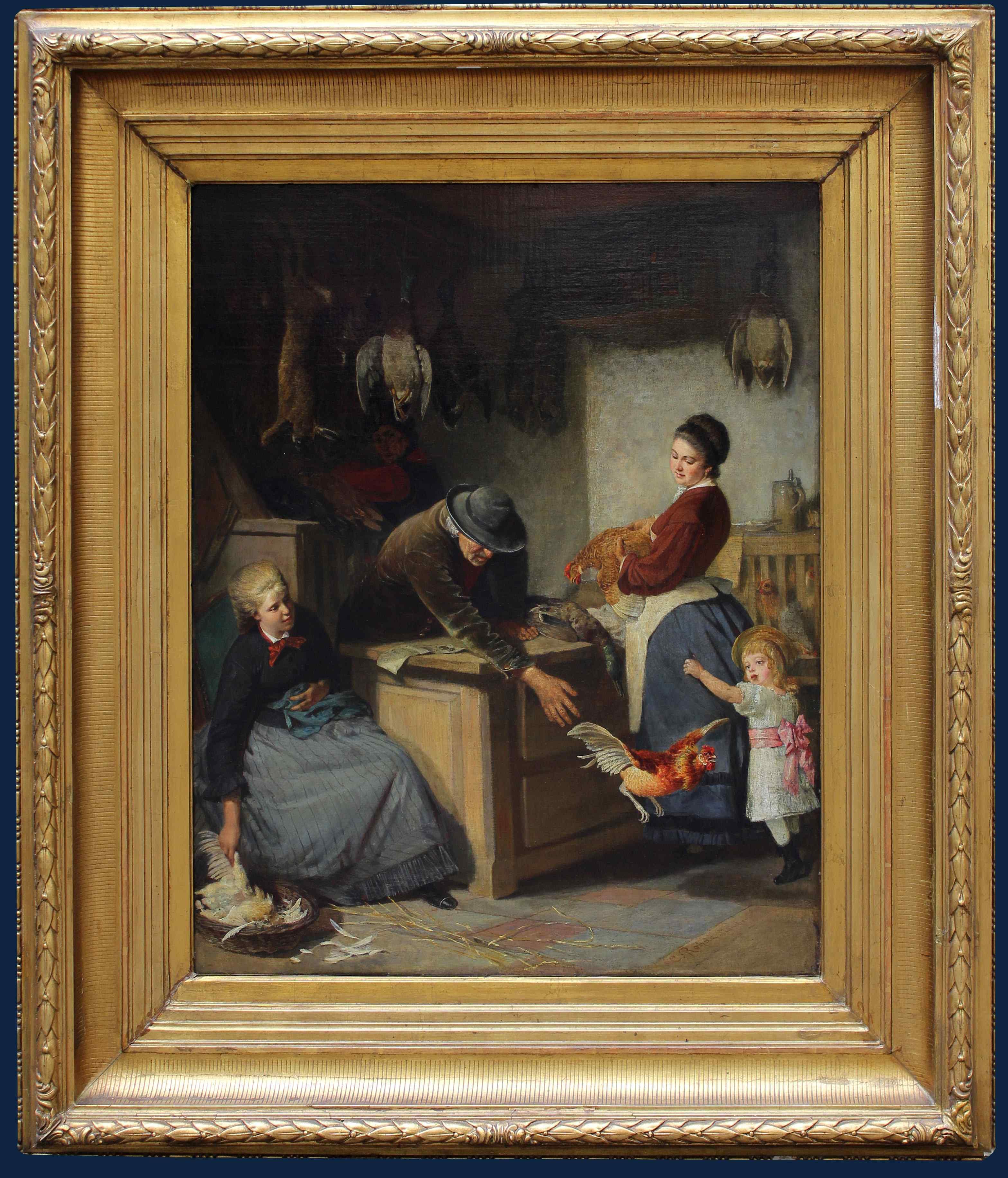 Carl Rohde (Koblenz, 1840-1891) Le marchand de poulets
