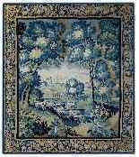 Aubusson Гобелен Зелень Epoque восемнадцатого века-5