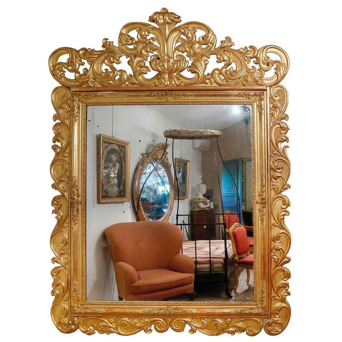 A Château Mirror from the Napoleon III Period