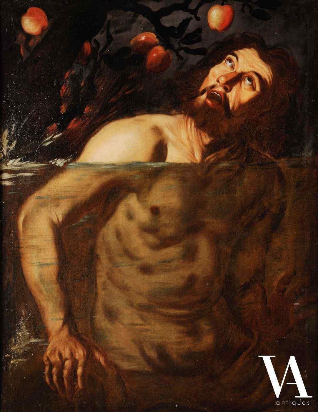 Louis Finson attr. a, Supplizio di Tantalo, Italia sec. XVII