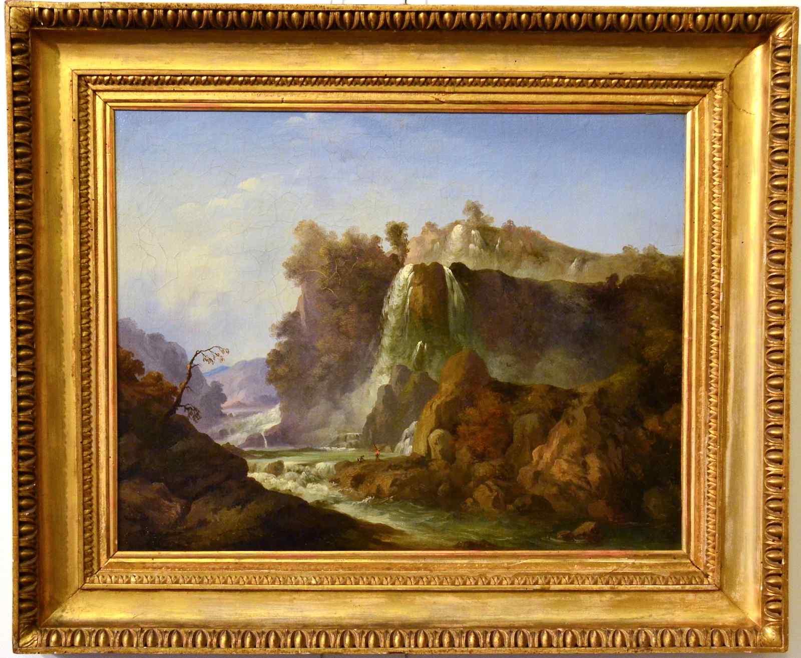 Vittorio Amedeo Cignaroli (ambito di), Paesaggio con cascate