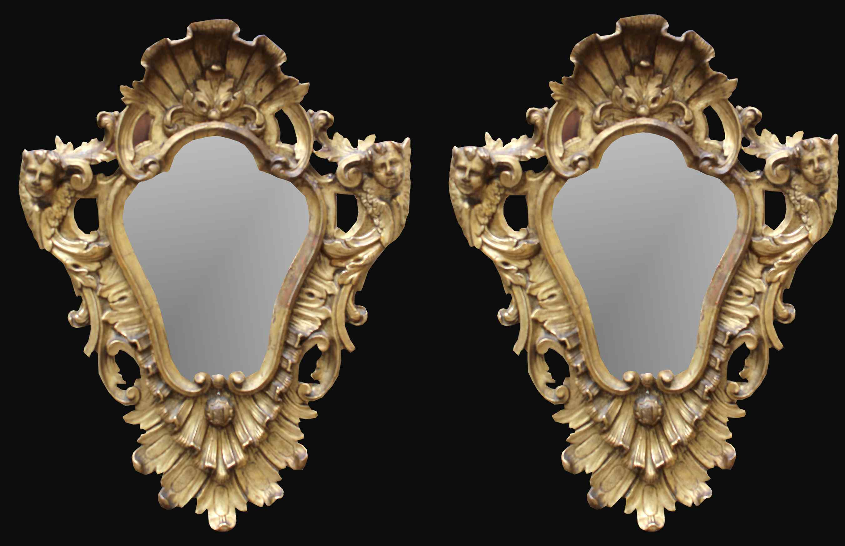 XVIII siècle et miroirs Couple