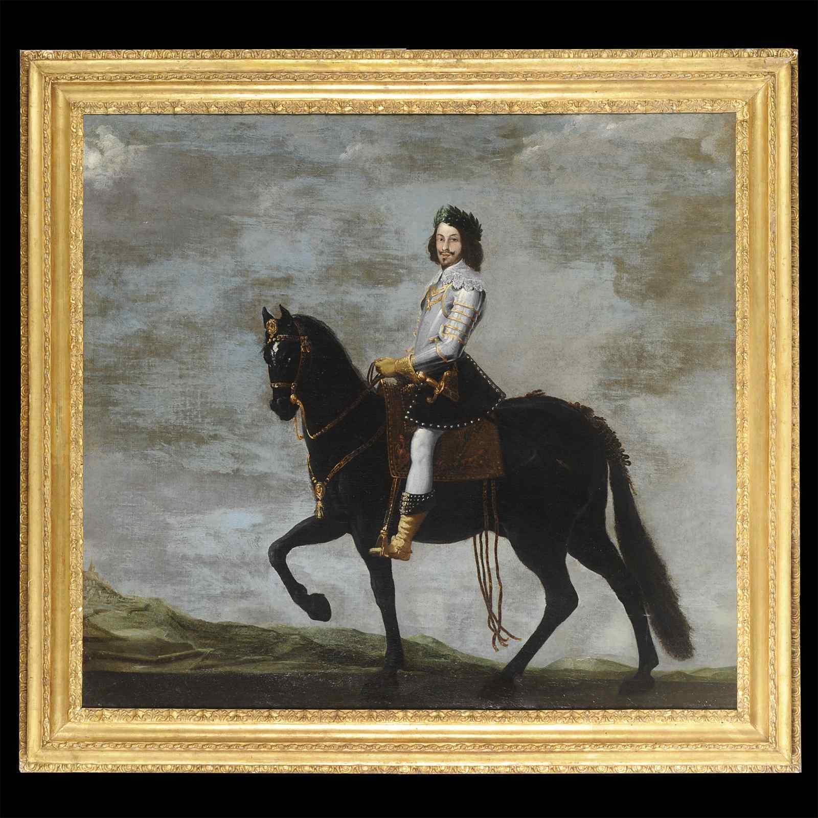 Portrait équestre - French School XVIIe - Large format