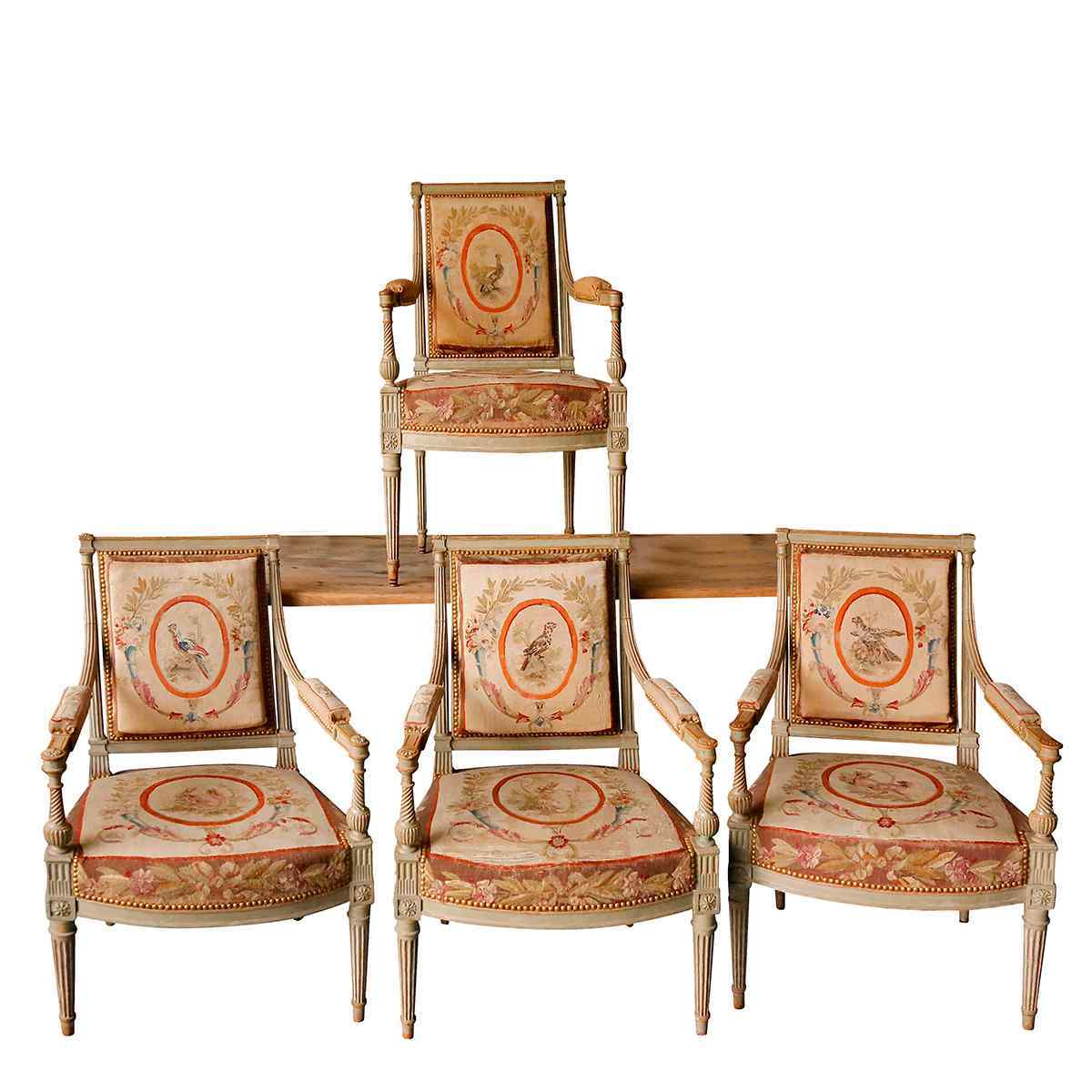A Set of Four Armchairs Directory style