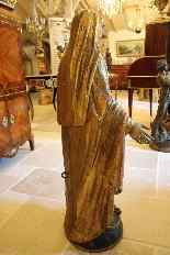 Virgin in carved polychrome wood, first half of the XIXth ce-5