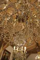 Grand lustre corbeille en bronze et cristal à 18 feux, époqu-0