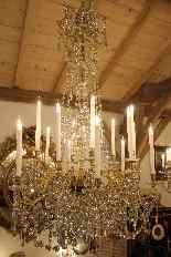 Grand lustre corbeille en bronze et cristal à 18 feux, époqu-10