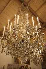 Grand lustre corbeille en bronze et cristal à 18 feux, époqu-3