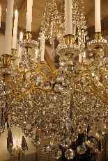 Grand lustre corbeille en bronze et cristal à 18 feux, époqu-14
