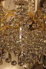 Grand lustre corbeille en bronze et cristal à 18 feux, époqu-8