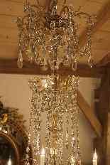 Grand lustre corbeille en bronze et cristal à 18 feux, époqu-15