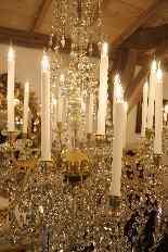 Grand lustre corbeille en bronze et cristal à 18 feux, époqu-11