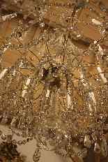 Grand lustre corbeille en bronze et cristal à 18 feux, époqu-17